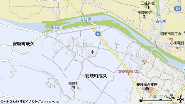大分県国東市安岐町成久473周辺の地図
