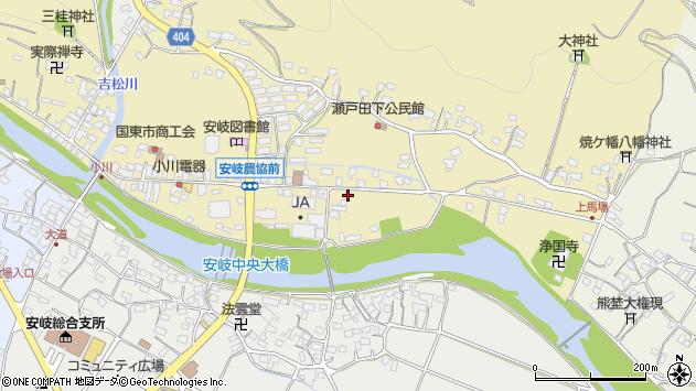 大分県国東市安岐町瀬戸田625周辺の地図
