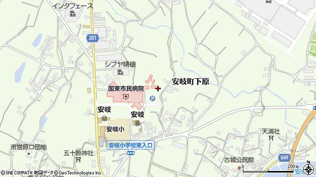 大分県国東市安岐町下原1304周辺の地図