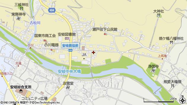 大分県国東市安岐町瀬戸田624周辺の地図