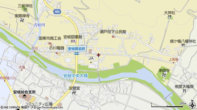 大分県国東市安岐町瀬戸田610周辺の地図