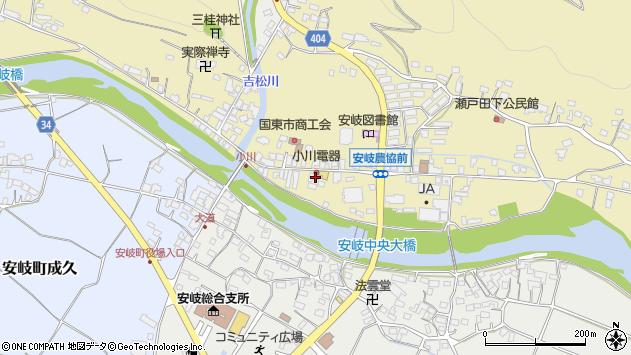 大分県国東市安岐町瀬戸田704周辺の地図