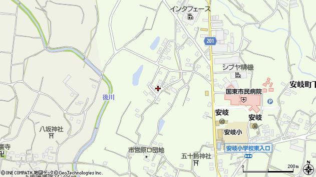 大分県国東市安岐町下原1516周辺の地図