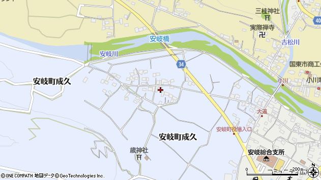 大分県国東市安岐町成久466周辺の地図