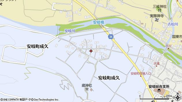 大分県国東市安岐町成久454周辺の地図