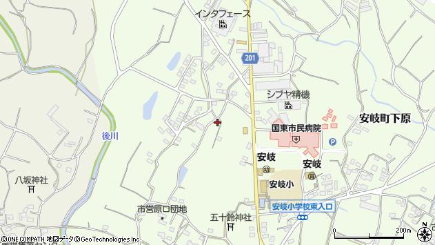 大分県国東市安岐町下原1493周辺の地図