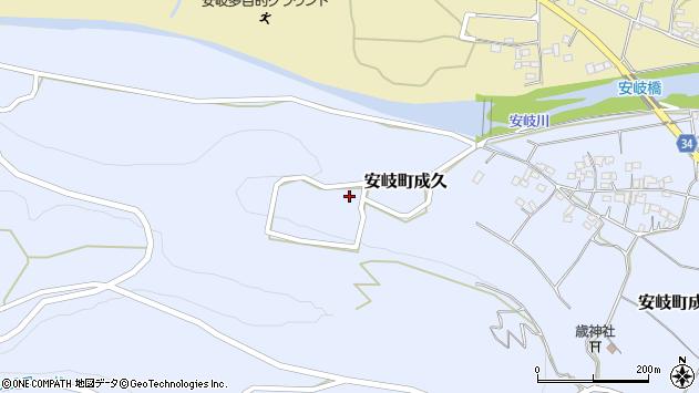 大分県国東市安岐町成久西山周辺の地図