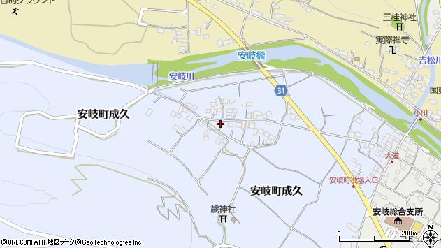大分県国東市安岐町成久504周辺の地図