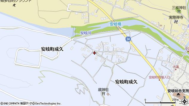 大分県国東市安岐町成久613周辺の地図