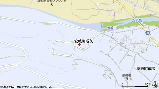 大分県国東市安岐町成久772周辺の地図