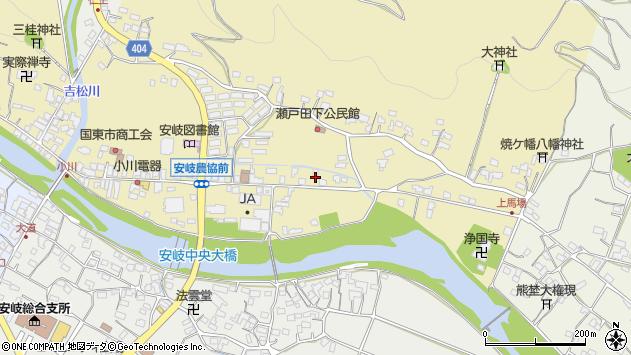 大分県国東市安岐町瀬戸田576周辺の地図
