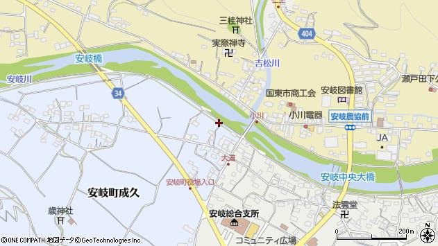 大分県国東市安岐町成久27周辺の地図