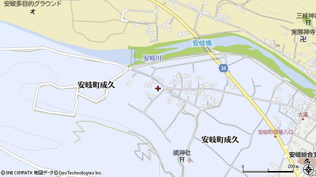 大分県国東市安岐町成久611周辺の地図