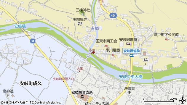 大分県国東市安岐町瀬戸田714周辺の地図