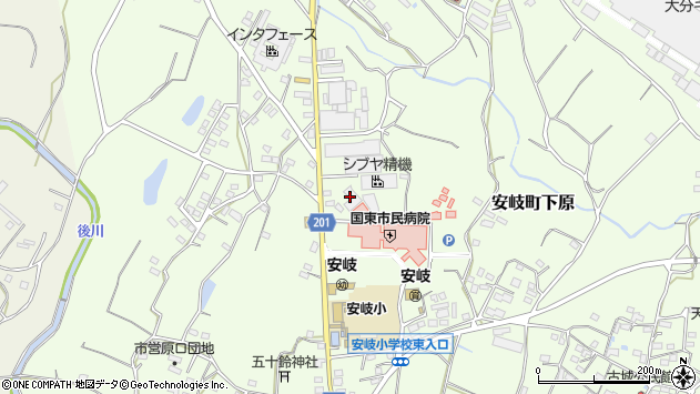 大分県国東市安岐町下原1450周辺の地図