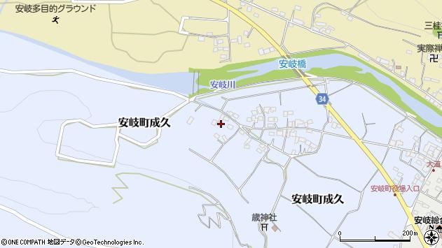 大分県国東市安岐町成久606周辺の地図