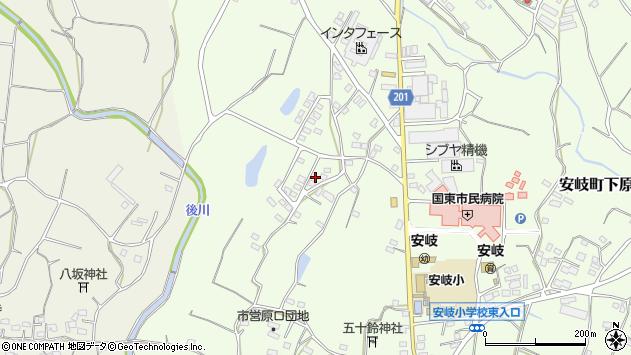 大分県国東市安岐町下原1515周辺の地図