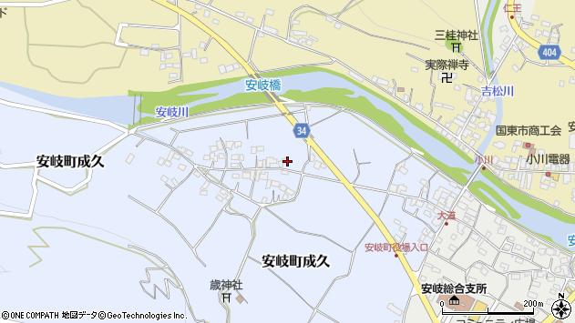 大分県国東市安岐町成久477周辺の地図