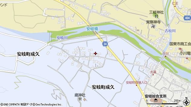 大分県国東市安岐町成久468周辺の地図