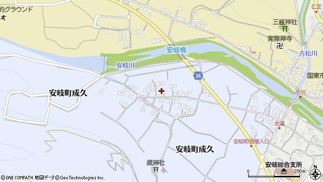 大分県国東市安岐町成久457周辺の地図