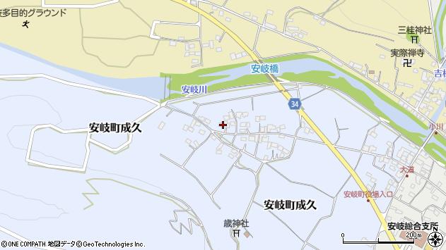 大分県国東市安岐町成久508周辺の地図