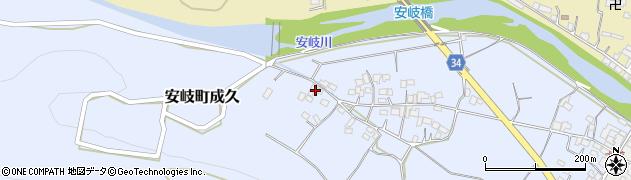 大分県国東市安岐町成久607周辺の地図