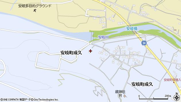 大分県国東市安岐町成久590周辺の地図