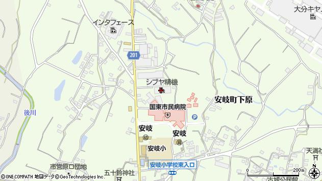 大分県国東市安岐町下原1345周辺の地図