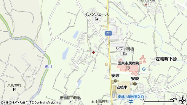 大分県国東市安岐町下原1495周辺の地図
