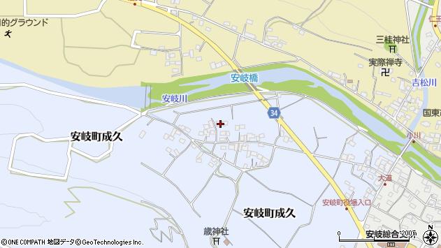 大分県国東市安岐町成久500周辺の地図