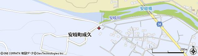 大分県国東市安岐町成久569周辺の地図