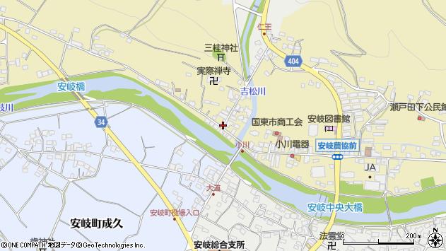 大分県国東市安岐町瀬戸田827周辺の地図
