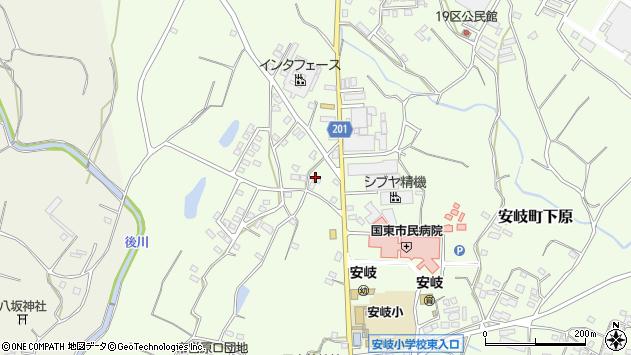 大分県国東市安岐町下原144周辺の地図