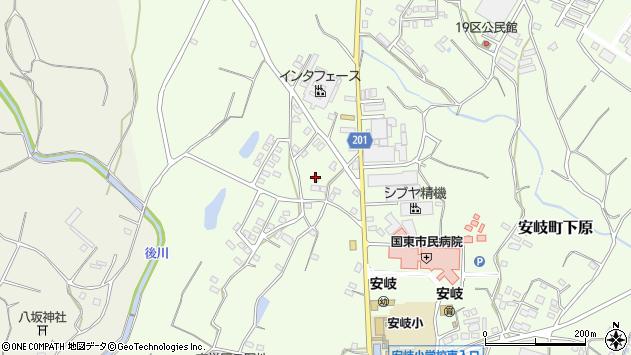 大分県国東市安岐町下原1439周辺の地図