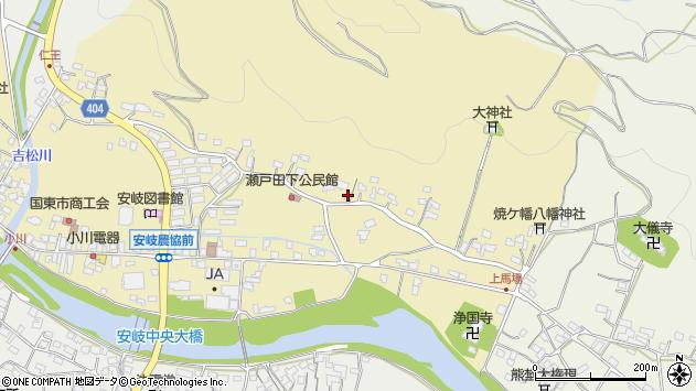 大分県国東市安岐町瀬戸田139周辺の地図