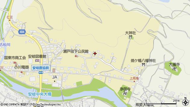 大分県国東市安岐町瀬戸田289周辺の地図