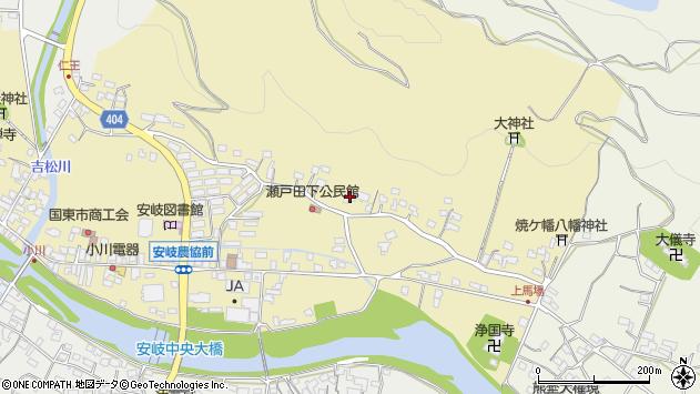 大分県国東市安岐町瀬戸田138周辺の地図