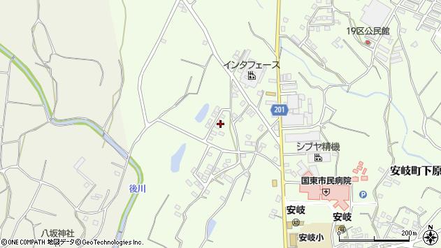 大分県国東市安岐町下原1544周辺の地図