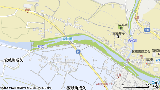 大分県国東市安岐町成久525周辺の地図