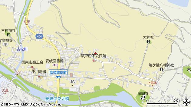 大分県国東市安岐町瀬戸田122周辺の地図