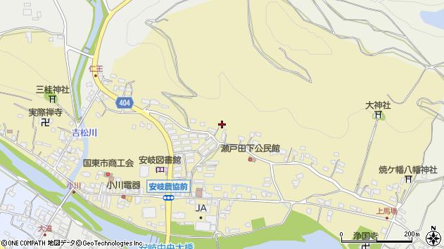 大分県国東市安岐町瀬戸田103周辺の地図