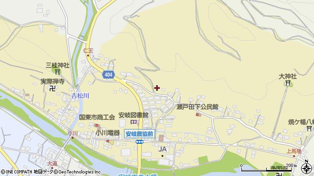 大分県国東市安岐町瀬戸田90周辺の地図