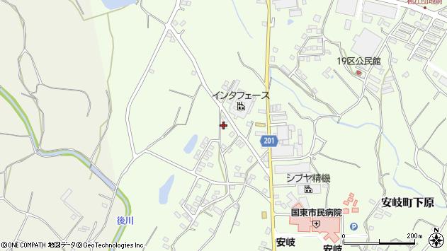 大分県国東市安岐町下原1433周辺の地図