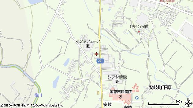 大分県国東市安岐町下原1399周辺の地図
