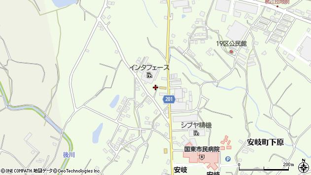 大分県国東市安岐町下原1405周辺の地図