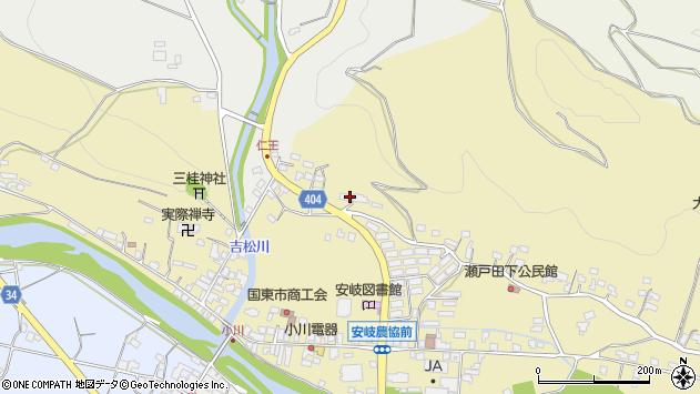 大分県国東市安岐町瀬戸田64周辺の地図