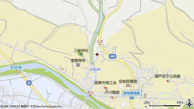 大分県国東市安岐町瀬戸田16周辺の地図
