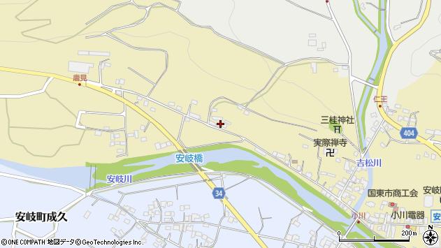 大分県国東市安岐町瀬戸田906周辺の地図