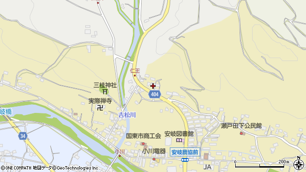 大分県国東市安岐町瀬戸田5周辺の地図