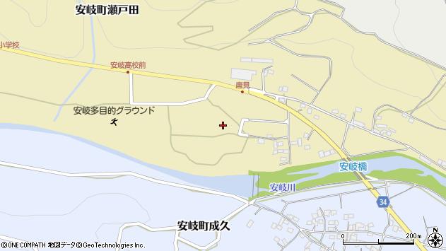 大分県国東市安岐町瀬戸田唐見周辺の地図